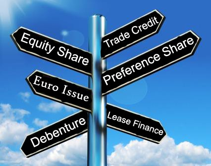 Sources of Finance - Equity Share, Euro Issue, Debentures, Trade Credit, Preference Shares, Lease Finance