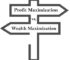 Profit Maximization vs. Wealth Maximization