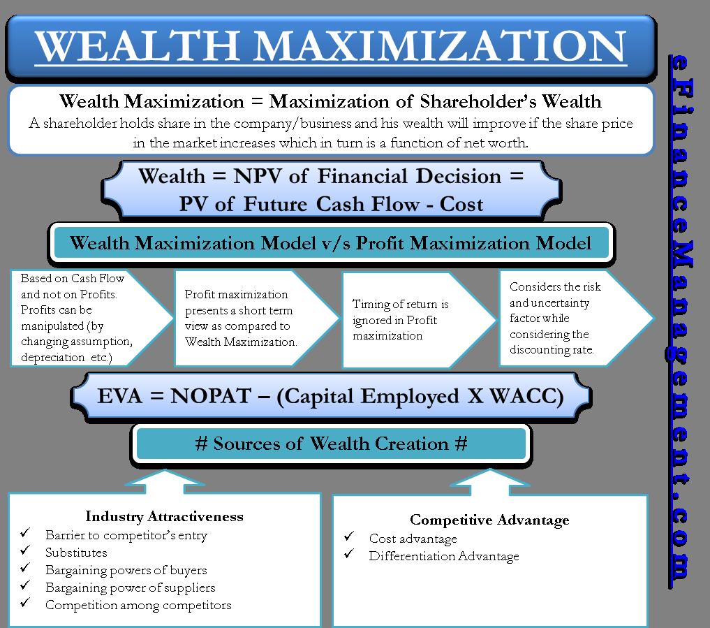 profit maximization vs wealth maximization which is better