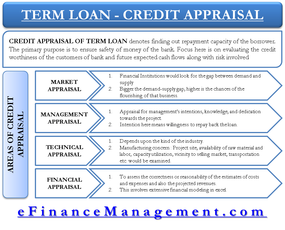 Credit Appraisal of Term Loan by Financial Institutions