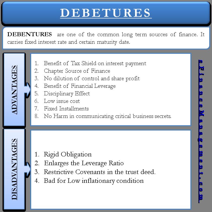 Advantages and Disadvantages of Debentures   efinancemanagement