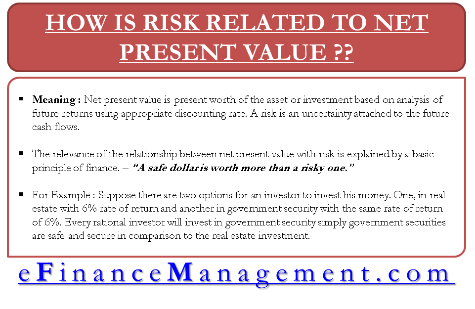 How is Risk related to Net Present Value