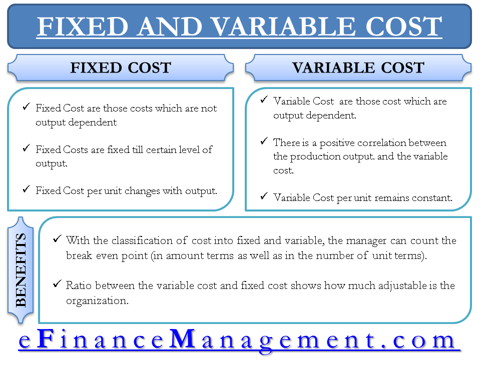 Fixed and Variable Cost