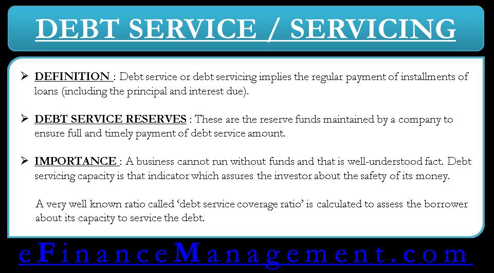 Debt Service or Servicing