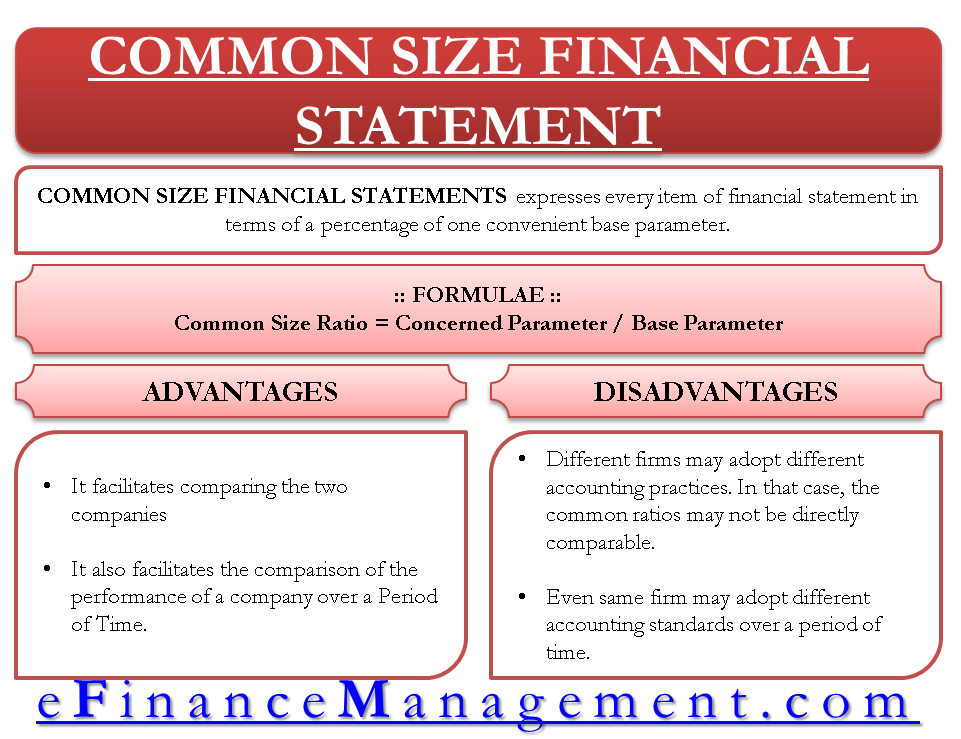 Common Size Financial Statements