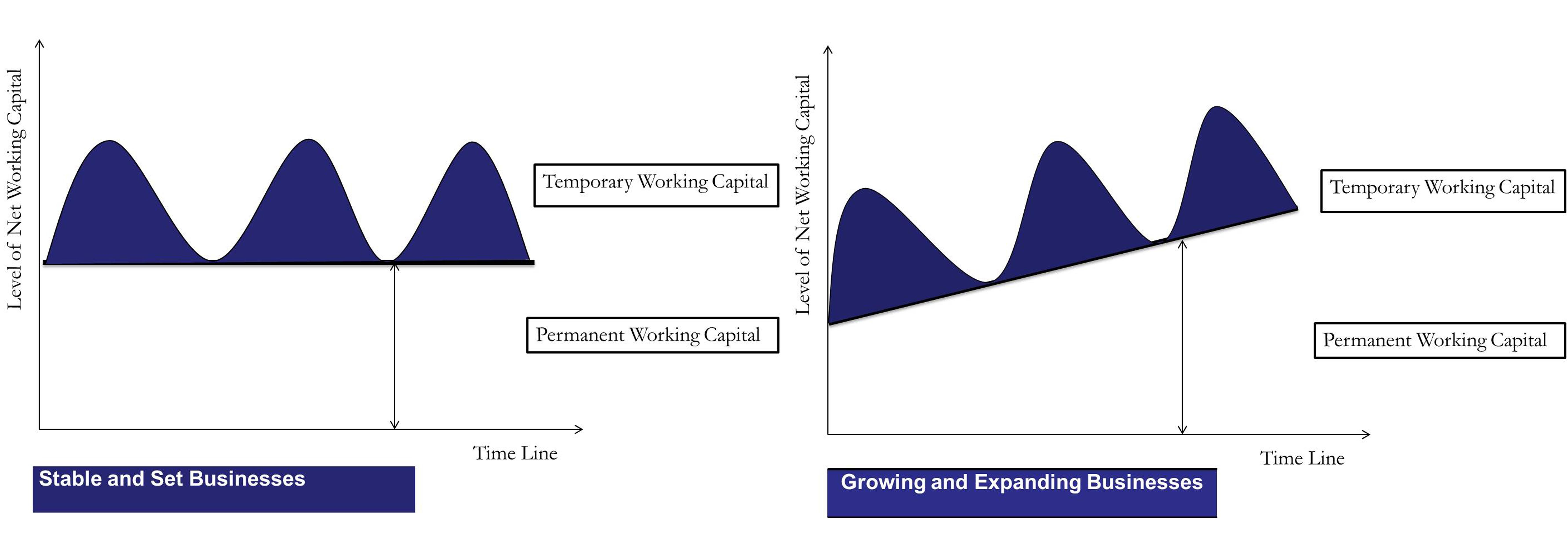 Permanent or Fixed Working Capital Graph