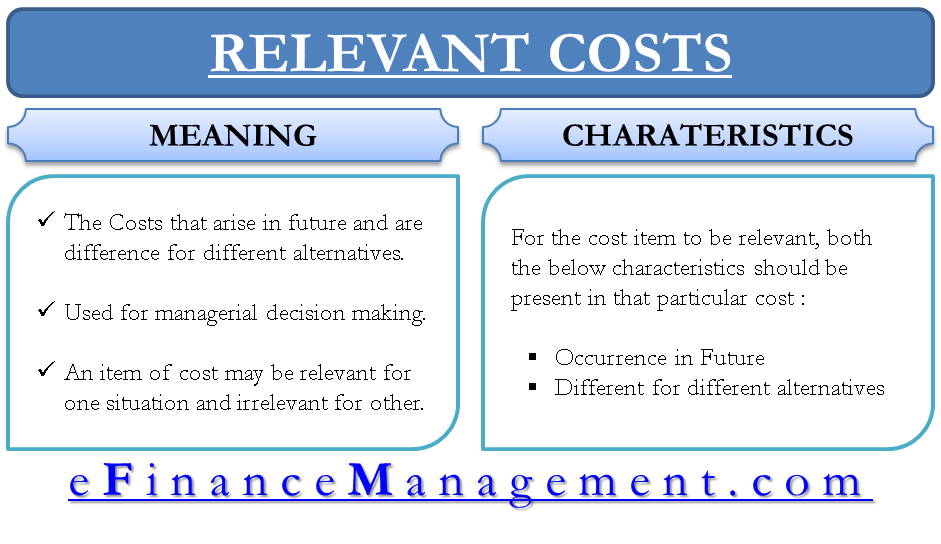 Relevant Costs