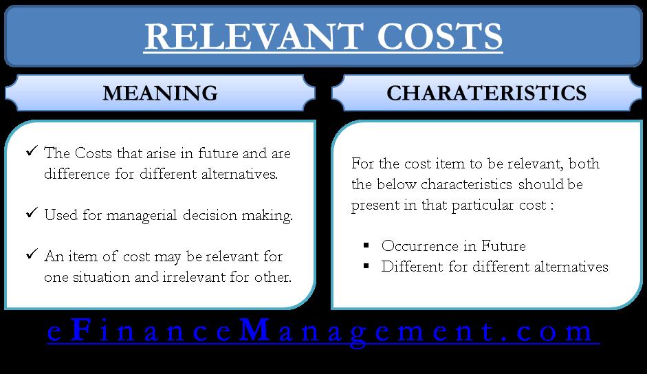 Relevant Costs