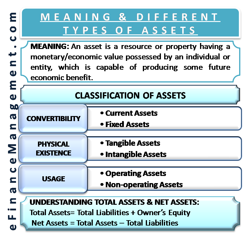 Meaning and Different Types of Assets