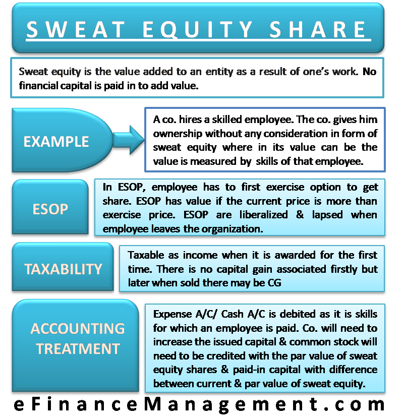 sweat equity share