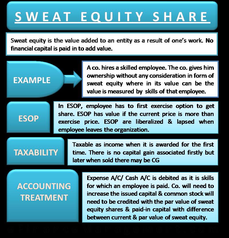 sweat equity share