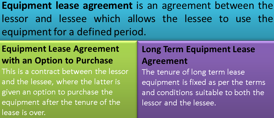 Equipment Lease Agreement Why Companies Opt For Equipment