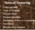 Terms of Factoring