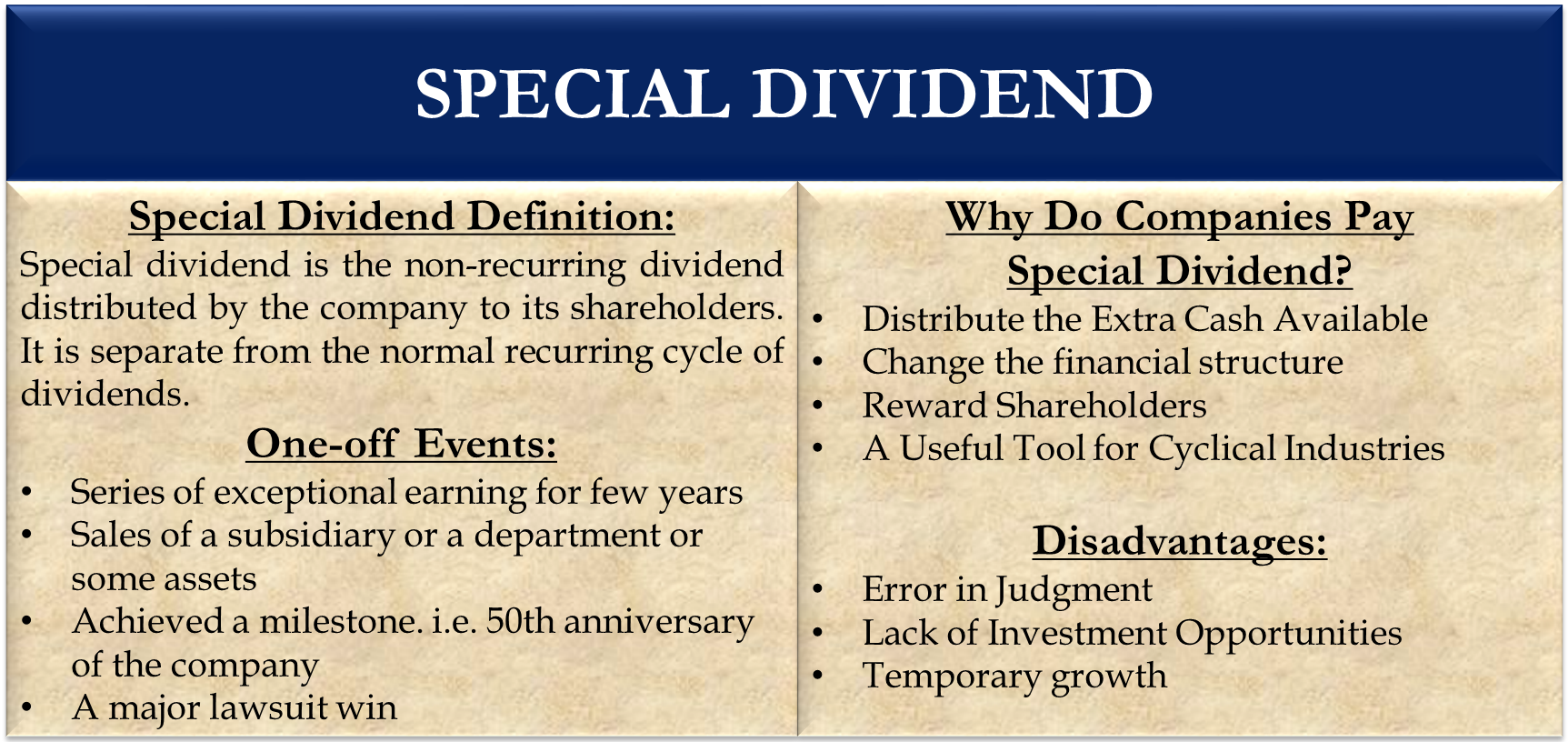 Special Dividend