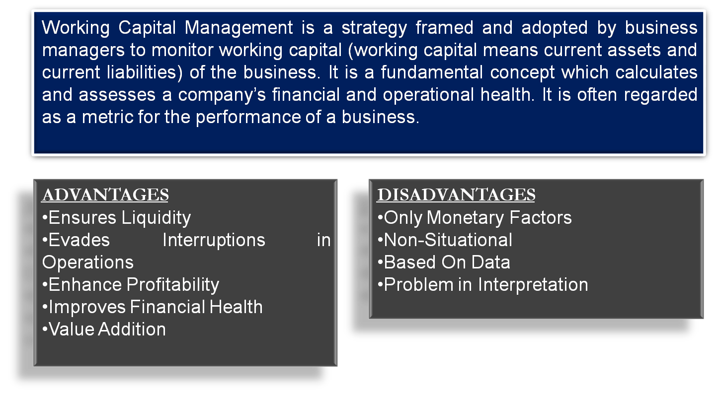 Advantages and Disadvantages of Working Capital Management
