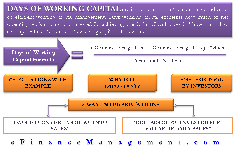 Days of Working Capital