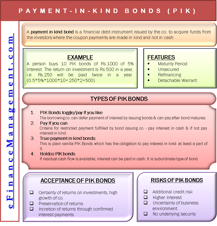 Payment in Kind Bonds (PIK)