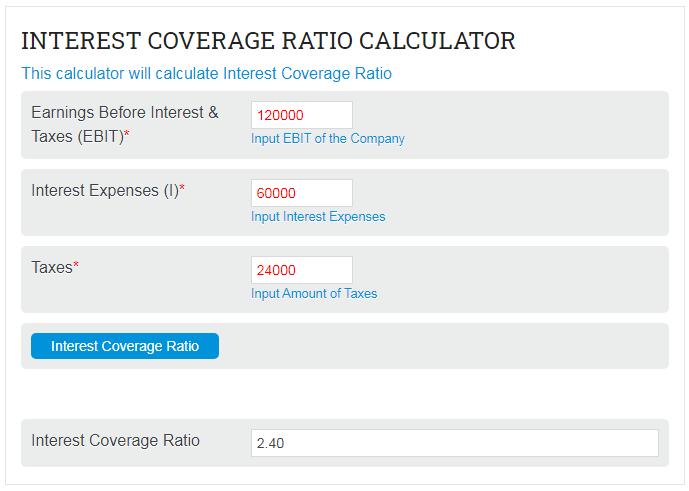 Interest Coverage Ratio Calculator