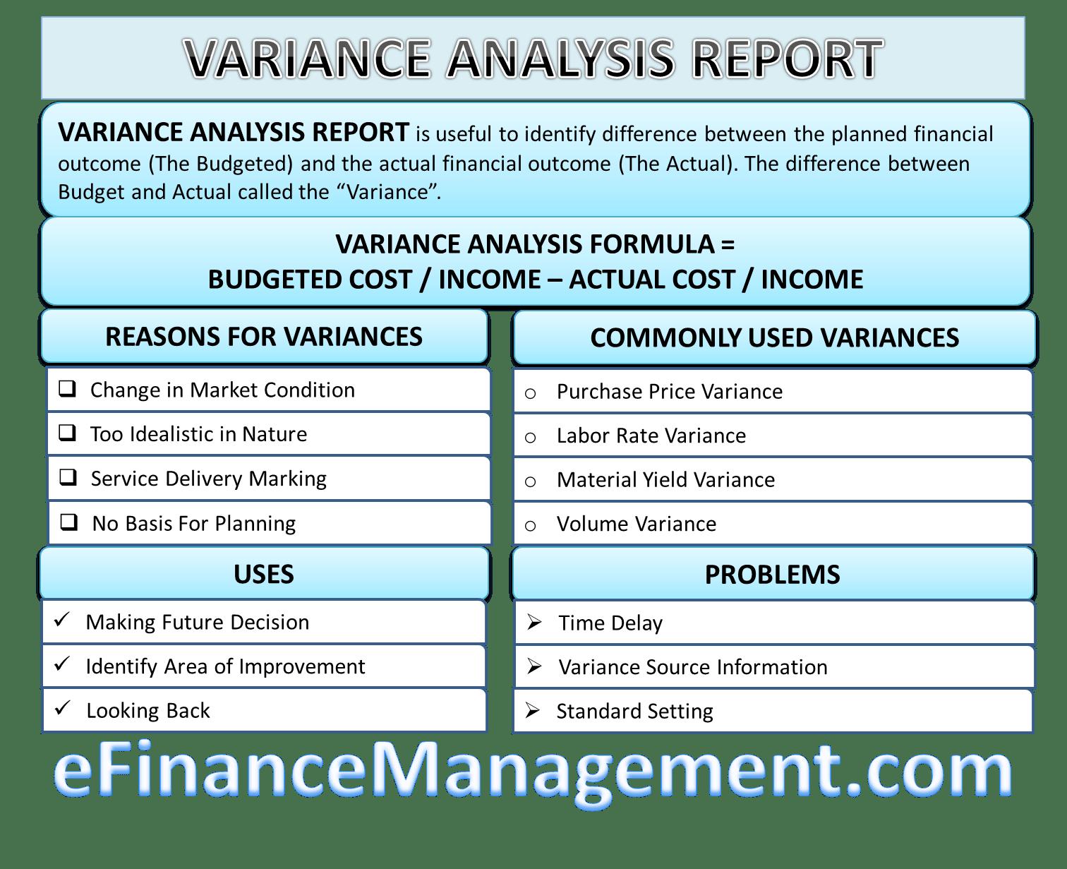 Variance Analysis Report