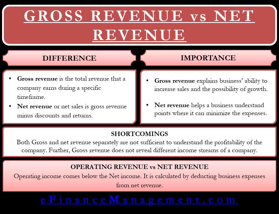 Gross Revenue vs Net Revenue