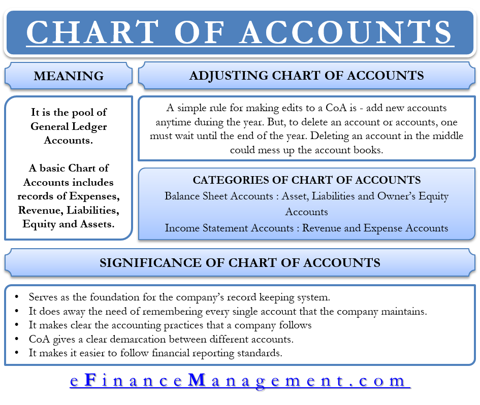 Chart Of Accounts Meaning Importance And More