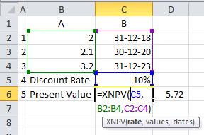 XNPV Excel Formula