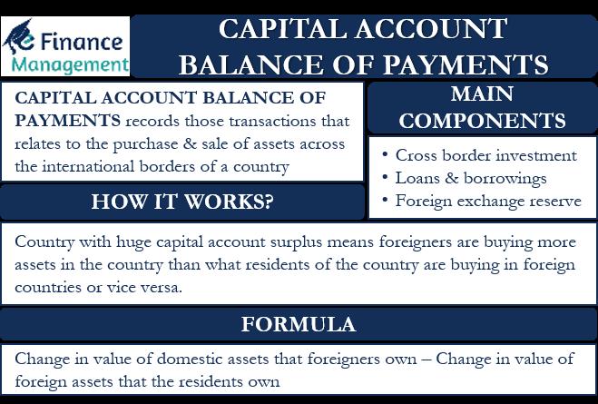 Capital Account Balance of Payment