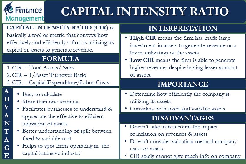 Capital Intensity Ratio