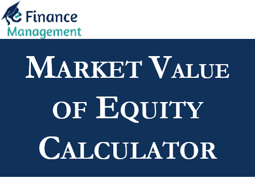 Market Value of Equity Calculator