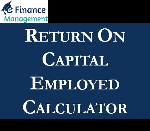Return on Capital Employed Calculator